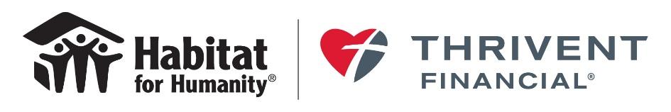 Habitat and Thrivent logo